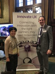 Andrew Gallagher and Hongwen Yu at Innovate UK awards - 2016